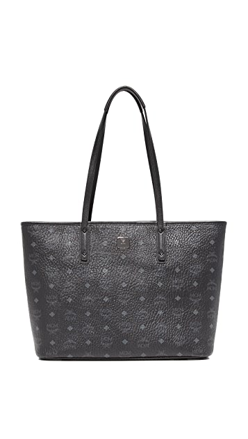 MCM Anya Zip Top Shopper Tote
