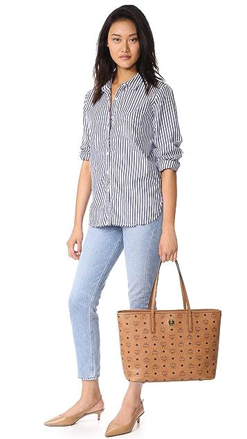 MCM Anya Zip Top Shopper Tote