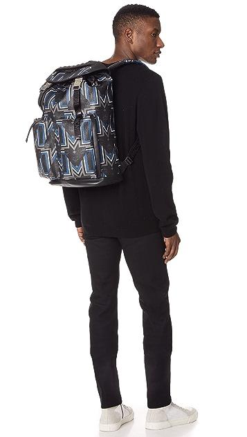MCM Gunta Gustav Print Backpack
