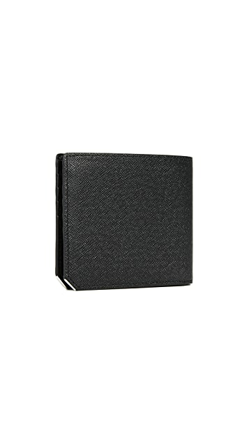 MCM Bric Leather Bifold Wallet