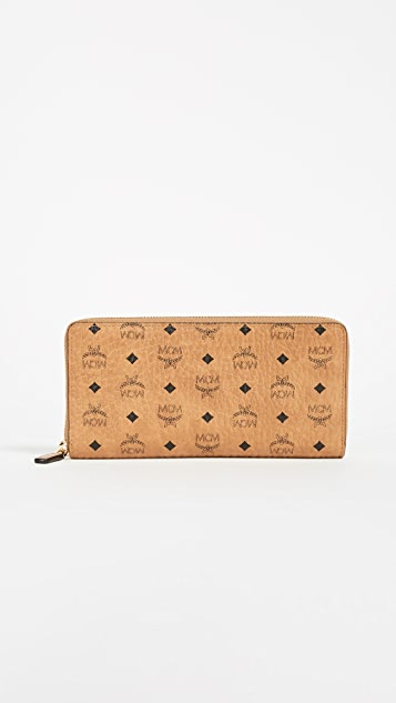 MCM Zip Around Large Wallet