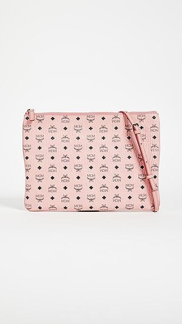 MCM Visetos Medium Pouch - Soft Pink