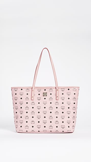 MCM Anya Zip Top Shopper Tote - Soft Pink