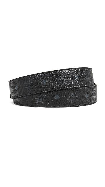 MCM Gold M Buckle Reversible Belt