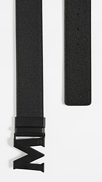 MCM Matte M Buckle Reversible Belt