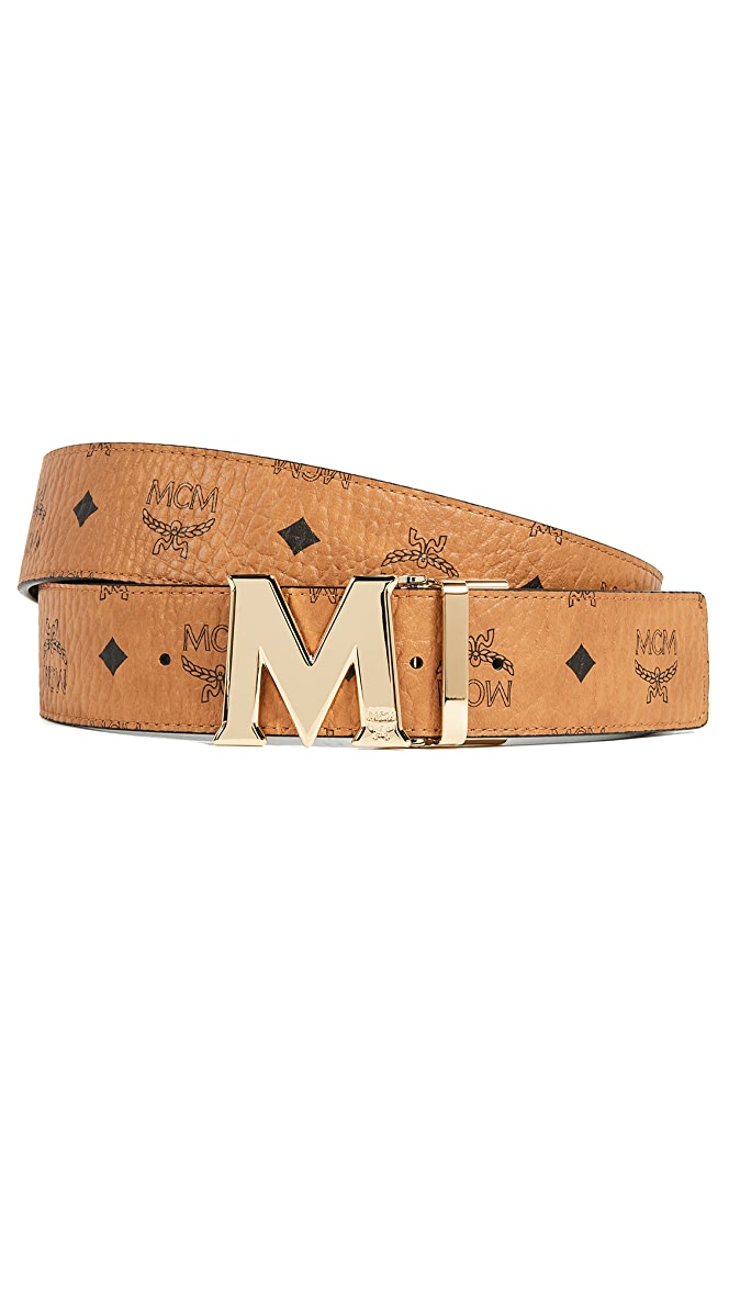 Mcm Gold M Buckle Reversible Belt East Dane Safe shipping and easy returns. mcm