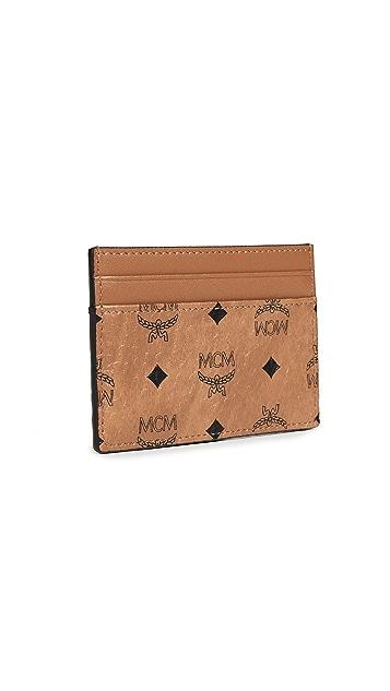 MCM Visetos Original Mini Card Case