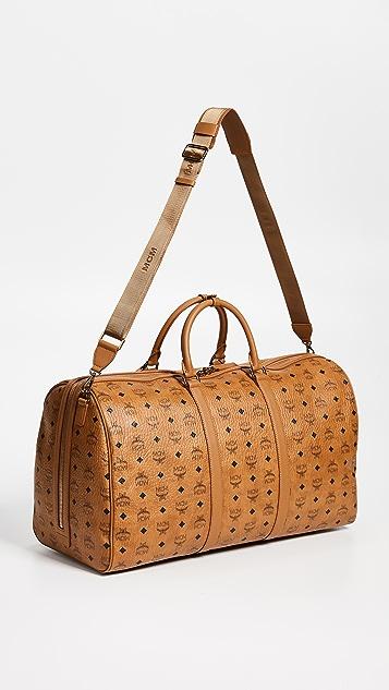MCM Traveler Visetos Extra Large Weekender Bag