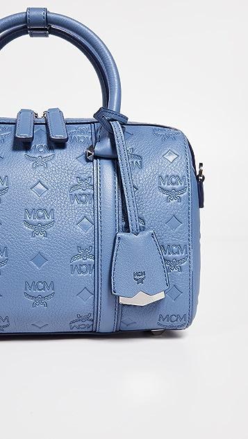 MCM Essential Monogrammed Small Boston Bag