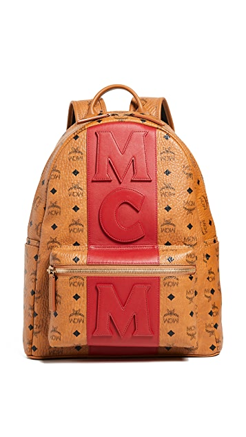 8bc746b9ec3a14 MCM Stark Medium Stripe Backpack