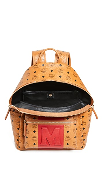 MCM Stark Medium Stripe Backpack