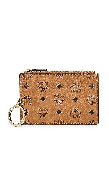 MCM Visetos Mini Key Pouch