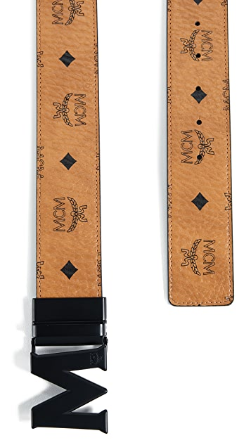 MCM Visetos Printed Reversible Belt