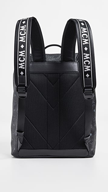 MCM Raymonde Two Pocket Medium Backpack