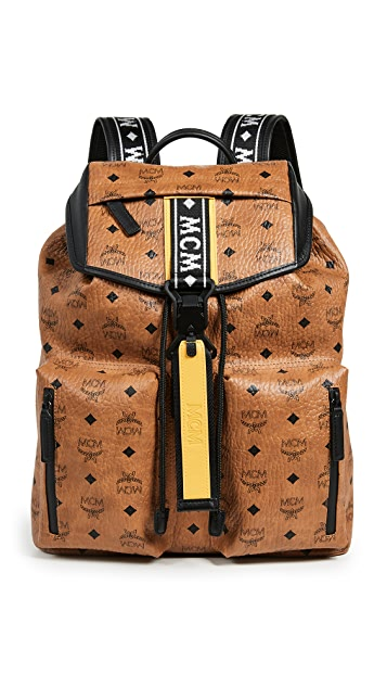 MCM Raymonde Two Pocket Medium Backpack