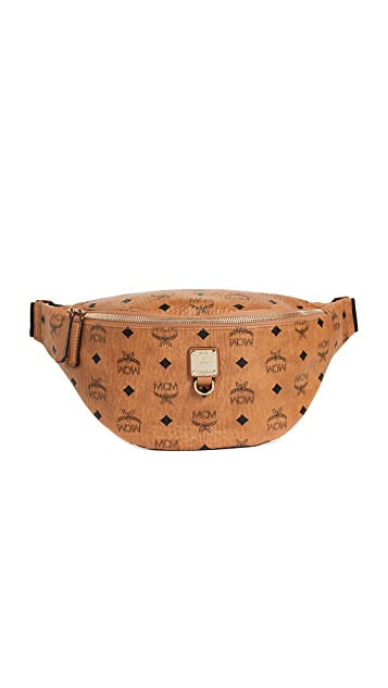 MCM Fursten Visetos Medium Belt Bag