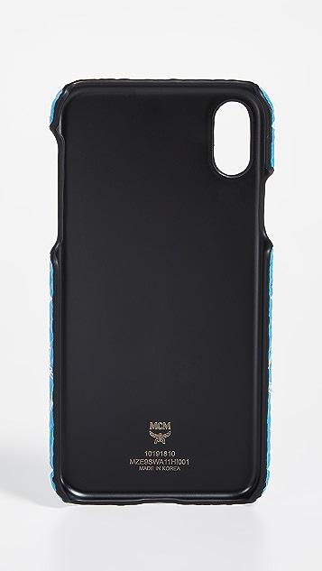 MCM White Logo Visetos iPhone X Case