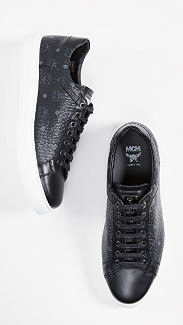 MCM Logo Visetos Low Top Sneakers