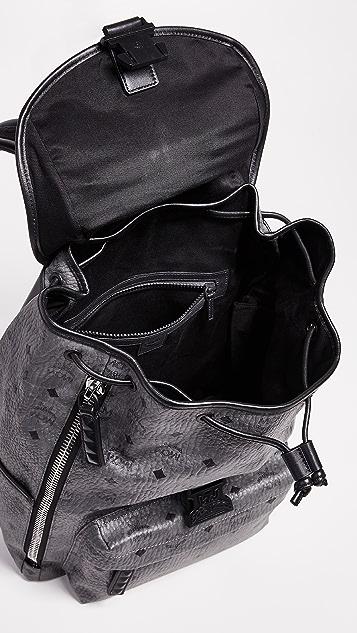 MCM Killian Visetos Medium Backpack
