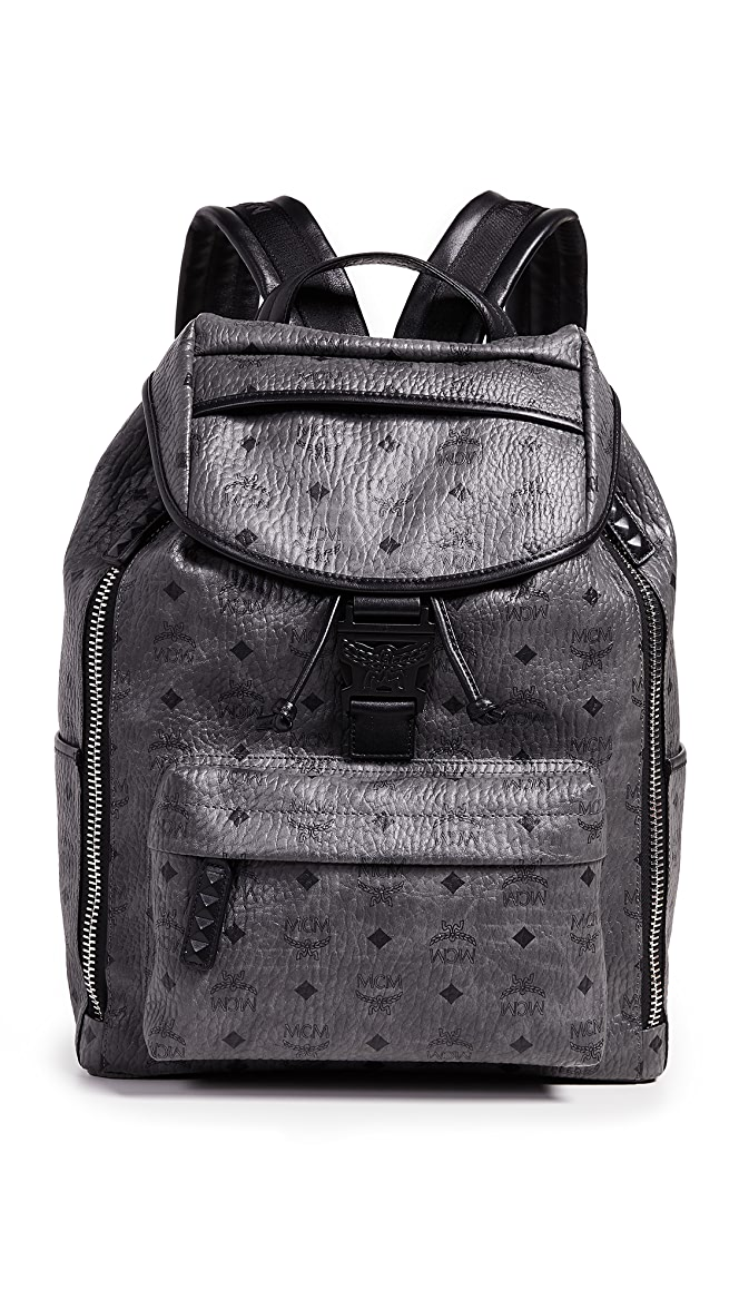MCM Men's Visetos Killian Backpack, Black, One Size: Amazon