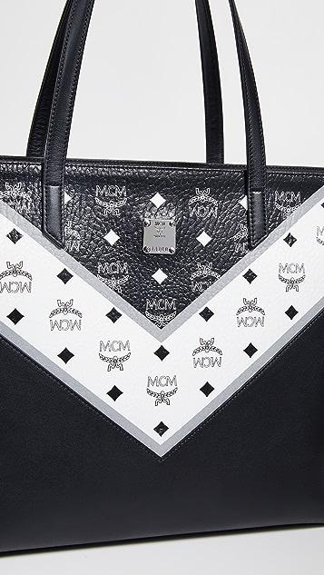 MCM M Move Visetos Medium Shopper