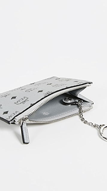 MCM Visetos Original Zipped Key Wallet