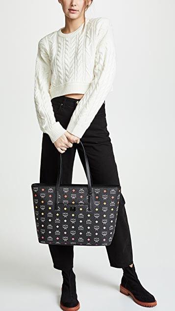MCM Anya Spektrum Visetos Medium Shopper