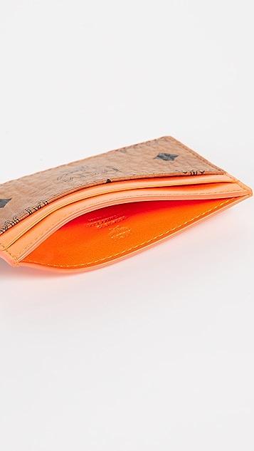 MCM Visetos Mini Card Case
