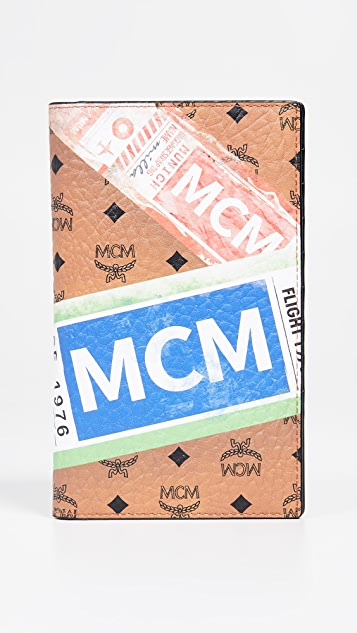 MCM Viseto Flight Print Passport Holder
