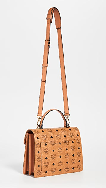 MCM Patricia Visetos Medium Satchel
