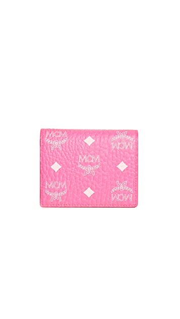 MCM Visetos Original Flap Wallet