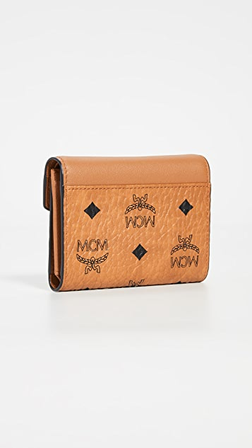 MCM Patricia Love Patch Flap Wallet