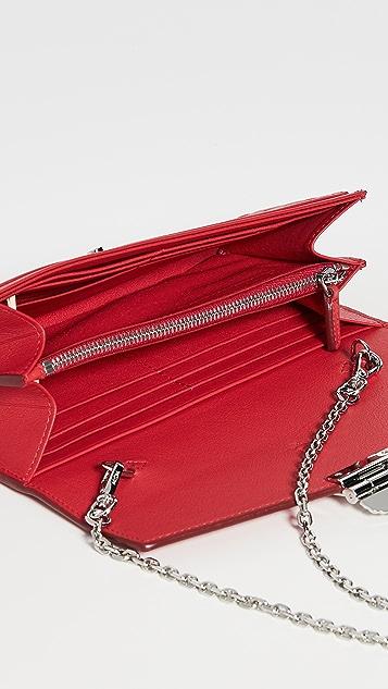 MCM Patricia Monogrammed Flap Wallet