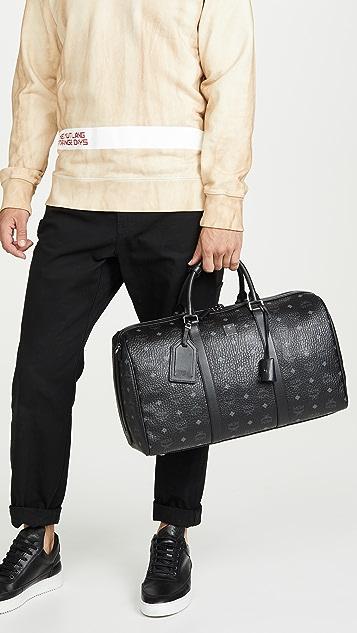 MCM Traveler Visetos Medium Weekender Bag