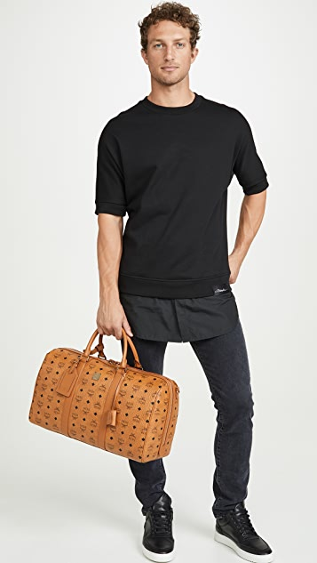 MCM Traveler Visetos Medium Weekender Bag