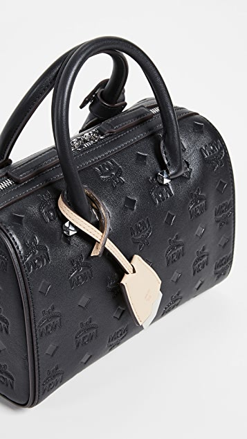 MCM Essential Monogrammed Boston Bag