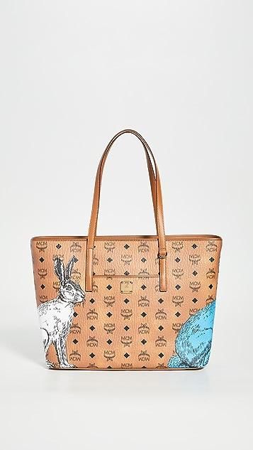 MCM Anya Hide And Seek Rabbit Medium Shopper