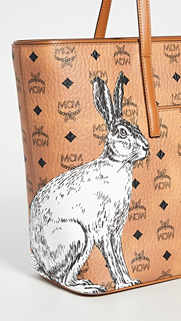 MCM Anya Hide And Seek Rabbit 中号购物包