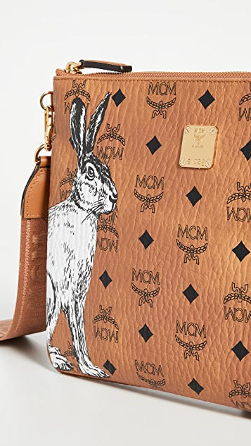MCM Hide And Seek Rabbit Pouch Medium