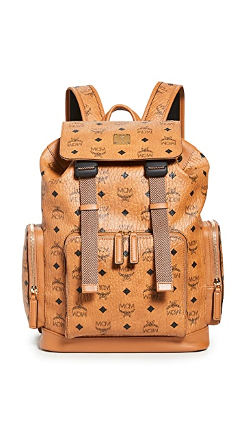 MCM Brandenburg Visetos Small Backpack