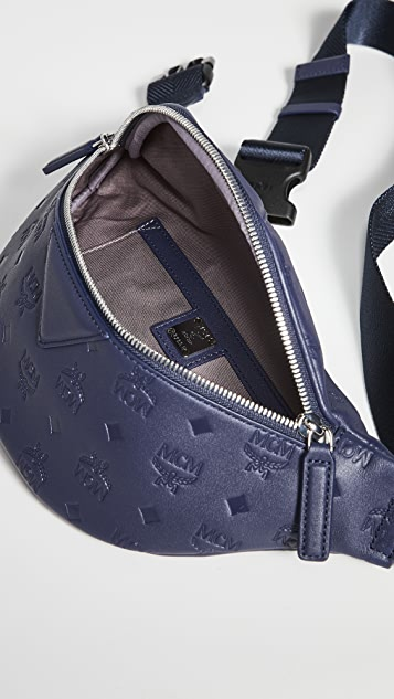 MCM Fursten Monogrammed Leather Small Belt Bag