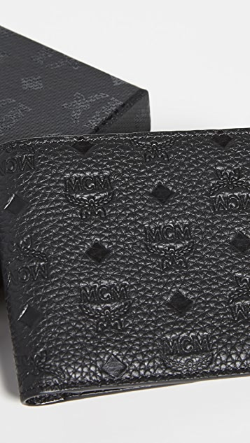 MCM Tivitat Leather Flap Wallet