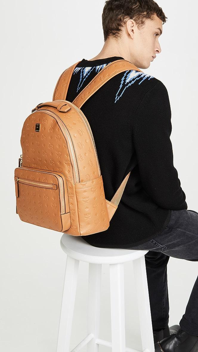 Mcm Stark Monogrammed Leather Backpack East Dane