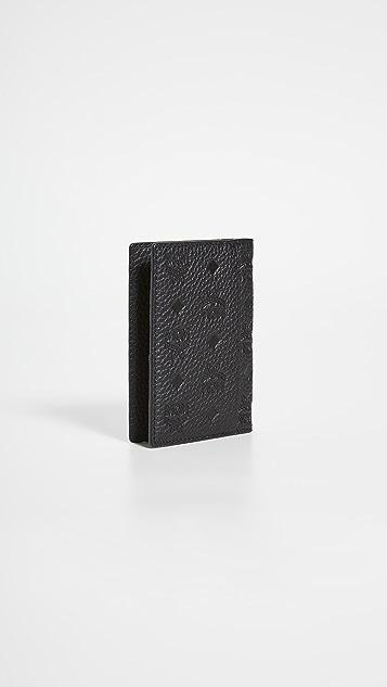 MCM Tivitat Leather Card Mini Wallet