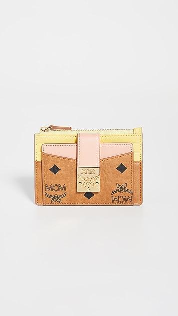 MCM Patricia Visetos Mini Card Case