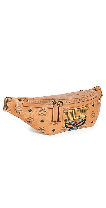 MCM Fursten Neo Laurel Belt Bag Medium - Cognac