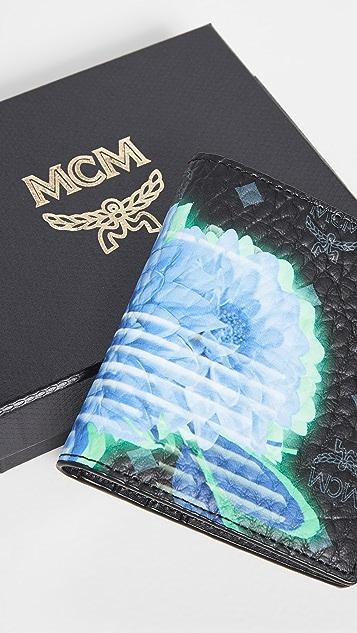 MCM Tech Flower Card Case Mini Wallet