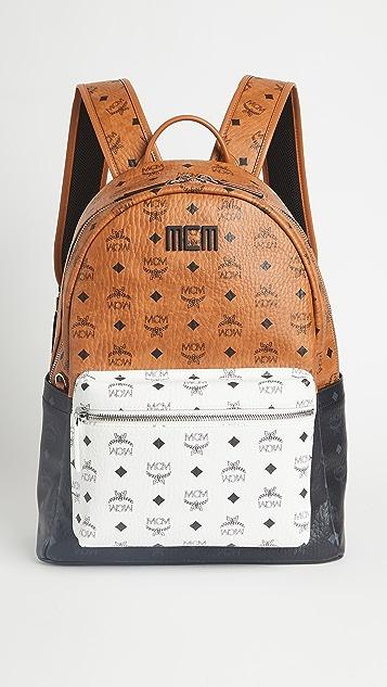 MCM Stark Visetos Mix Backpack 40