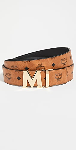 MCM - Gold M Buckle Reversible Belt