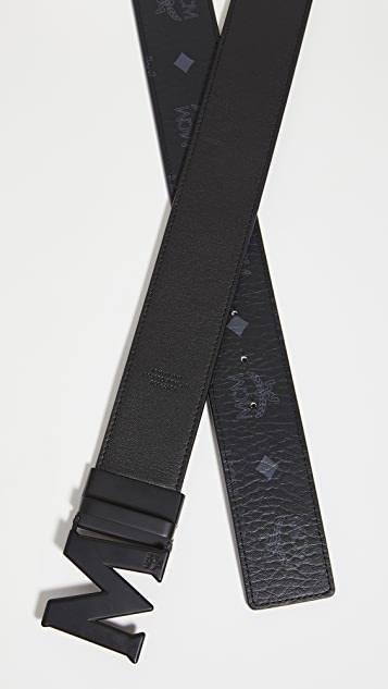 MCM Matte M Buckle Reversible Belt